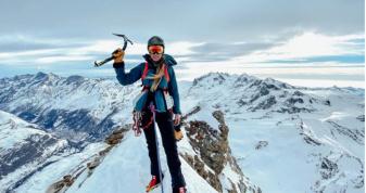 Ірина Галай на вершині гори в Швейцарії