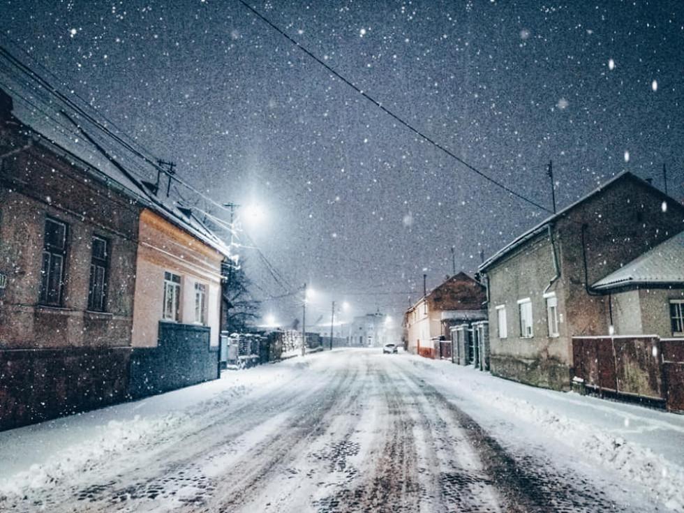 сніг у Мукачево