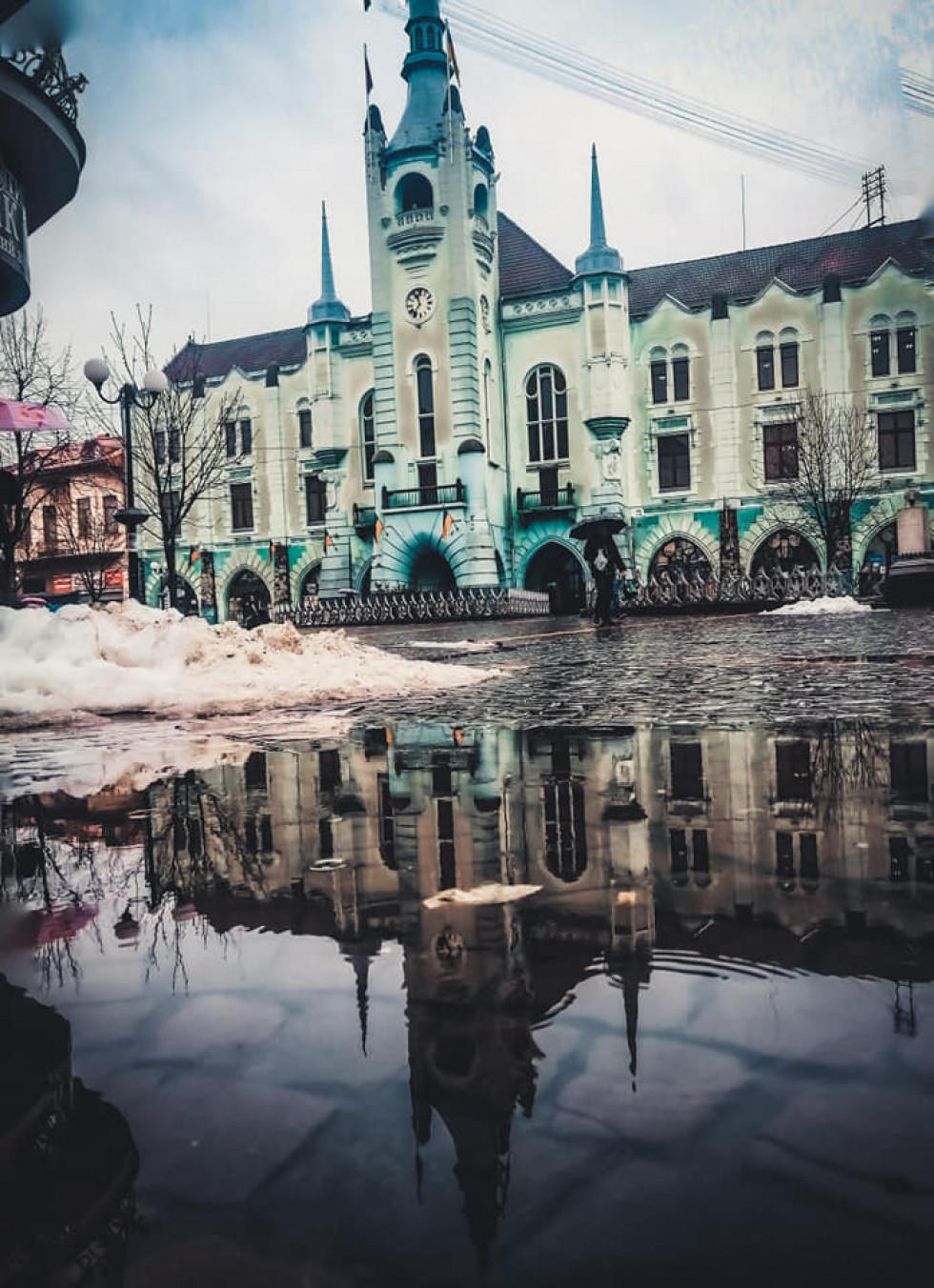 Ратуша дощ Мукачево
