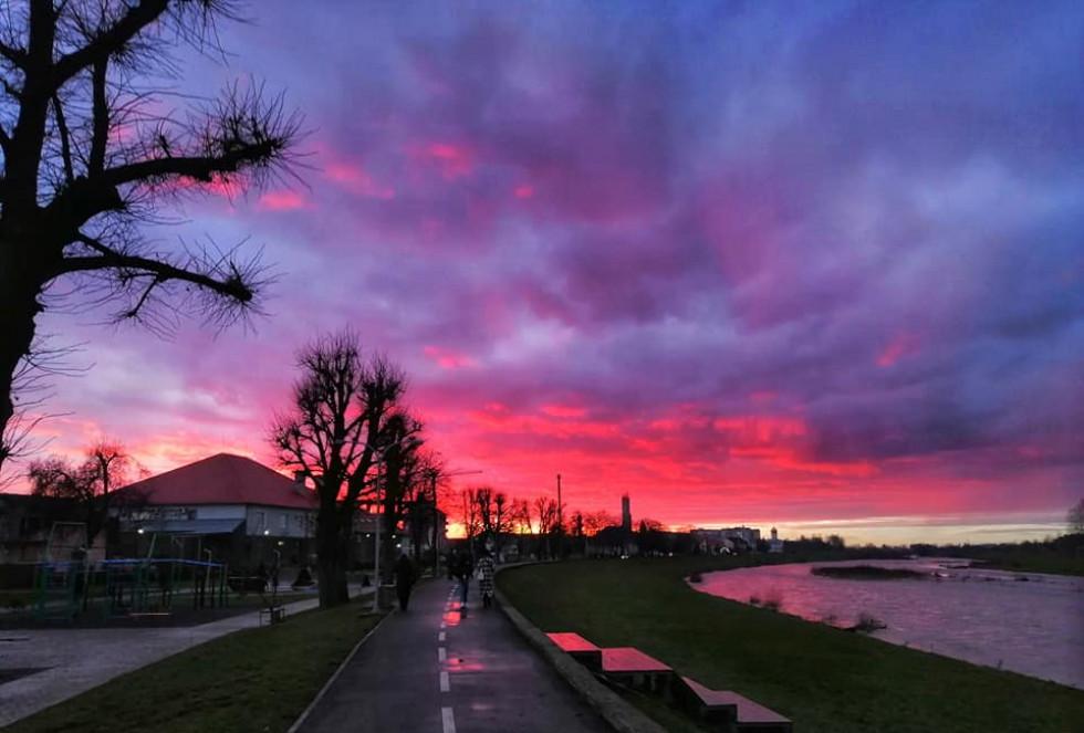 Мукачево захід сонця